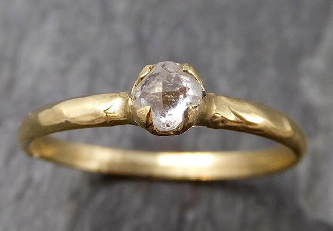 Fancy cut white Diamond Solitaire Engagement 14k yellow Gold Wedding Ring byAngeline 0852 - Gemstone ring by Angeline