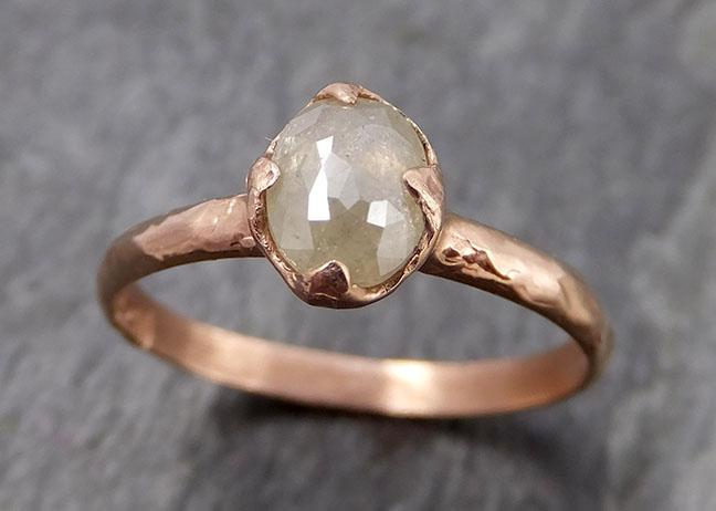 Faceted Fancy cut White Diamond Engagement 14k Yellow Gold Solitaire Wedding Ring byAngeline 0874 - Gemstone ring by Angeline