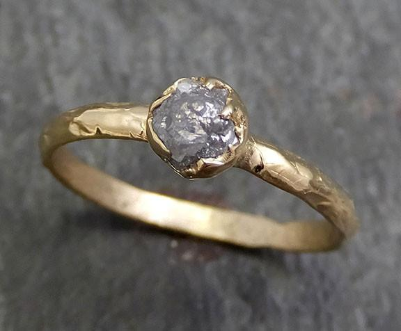 Raw Diamond Engagement Ring Rough Uncut Diamond Solitaire Recycled 14k gold Conflict Free Diamond Wedding Promise byAngeline 0286 - Gemstone ring by Angeline