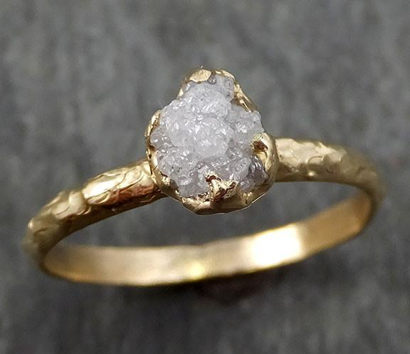 Raw Diamond Engagement Ring Rough Uncut Diamond Solitaire Recycled 14k gold Conflict Free Diamond Wedding Promise byAngeline 0298 - Gemstone ring by Angeline