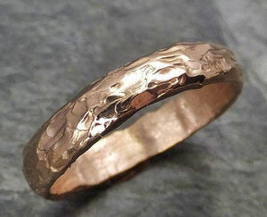 Custom 14k gold Men's wedding band white rose or yellow gold c10001