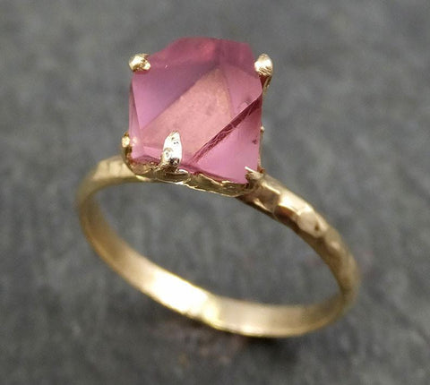 Raw Spinel Natural Facets Gold statement Ring One Of a Kind Pink Gemstone Ring stone Ring byAngeline 0377 - Gemstone ring by Angeline