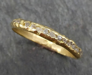 Raw Rough Uncut Diamond Wedding Band 18k / 14k Gold Diamond Wedding Ring byAngeline C0380