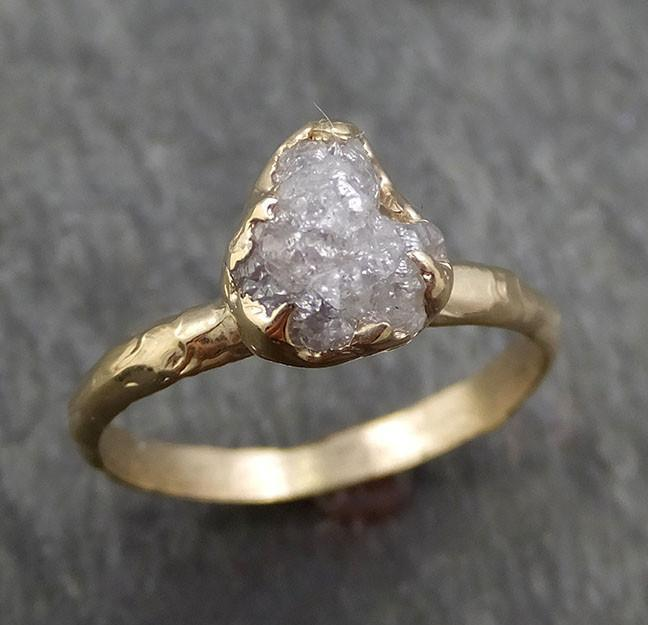 Raw Diamond Engagement Ring Rough Uncut Diamond Solitaire Recycled 14k gold Conflict Free Diamond Wedding Promise byAngeline 0427 - Gemstone ring by Angeline
