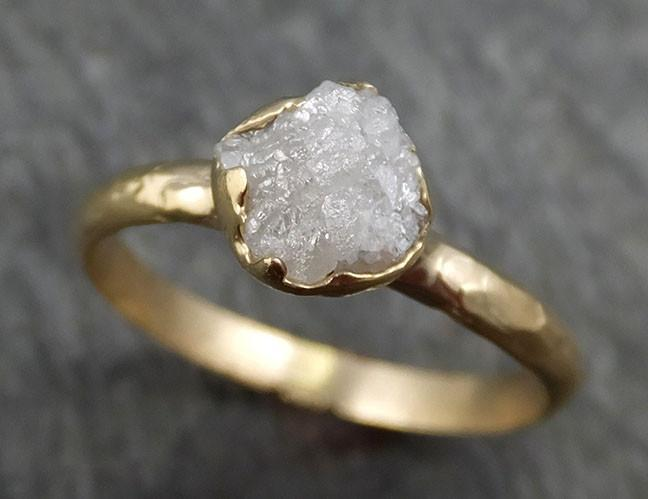Raw Diamond Engagement Ring Rough Uncut Diamond Solitaire Recycled 14k gold Conflict Free Diamond Wedding Promise byAngeline 0431 - Gemstone ring by Angeline