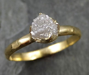 18k Raw Diamond Solitaire Engagement Rough yellow Gold Wedding Ring diamond Wedding Ring Rough Diamond Ring 0472