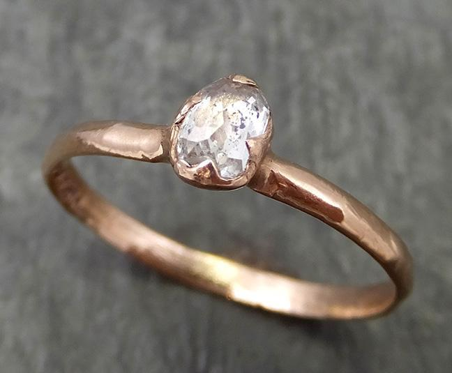 Fancy cut Diamond Solitaire Engagement 14k Rose Gold Wedding Ring byAngeline 0679 - Gemstone ring by Angeline