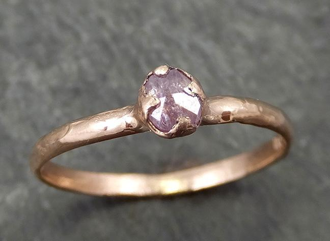 Dainty Fancy cut pink Diamond Solitaire Engagement 14k Rose Gold Wedding Ring Diamond Ring byAngeline 0681 - Gemstone ring by Angeline