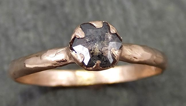 Fancy cut Diamond Solitaire Engagement 14k Rose Gold Wedding Ring byAngeline 0684 - Gemstone ring by Angeline