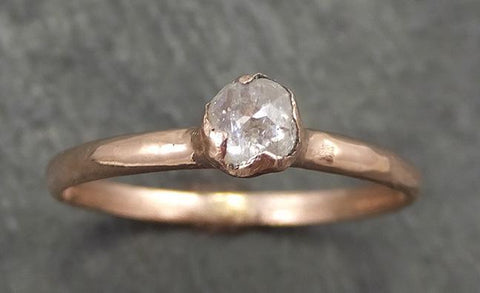 Fancy cut White Diamond Solitaire Engagement 14k Rose Gold Wedding Ring byAngeline 0687 - Gemstone ring by Angeline