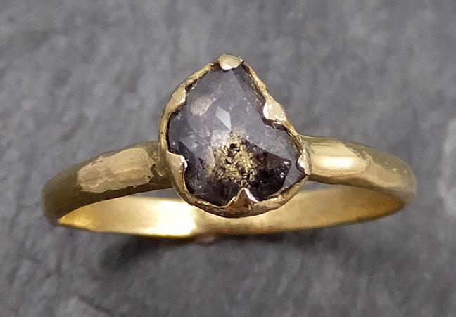 Fancy Cut Half Moon Diamond Solitaire Engagement 14k Gold Wedding Ring byAngeline 0732 - Gemstone ring by Angeline