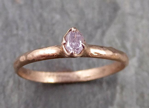 Dainty Fancy cut pink Diamond Solitaire Engagement 14k Rose Gold Wedding Ring Diamond Ring byAngeline 1078
