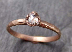 Fancy cut Dainty White Diamond Solitaire Engagement 14k Rose Gold Wedding Ring byAngeline 1098