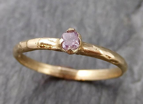 Pink Diamond Solitaire Engagement Dainty Fancy cut 14k yellow Gold Wedding Ring Diamond Ring byAngeline 1102