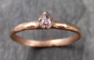Fancy cut Dainty White Diamond Solitaire Engagement 14k Rose Gold Wedding Ring byAngeline 1126