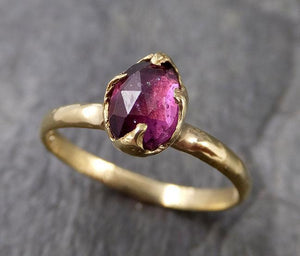 Fancy cut tourmaline Yellow Gold Ring Gemstone Solitaire recycled 18k statement cocktail statement 1251