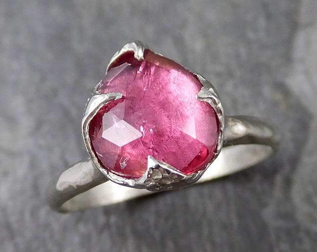 Fancy cut Spinel 18k white Gold statement Ring One Of a Kind Pink Gemstone Ring stone Ring byAngeline 1282