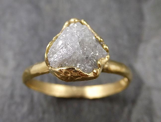 Raw Diamond Engagement Ring Rough Uncut Diamond Solitaire Recycled 18k yellow gold Conflict Free Diamond Wedding Promise 1312