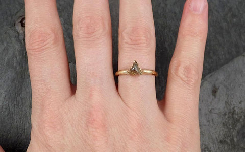 Fancy cut yellow/gold Diamond Solitaire Engagement 14k yellow Gold Wedding Ring byAngeline 0936