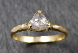 Fancy cut white Diamond Solitaire Engagement 18k yellow Gold Wedding Ring byAngeline 1416