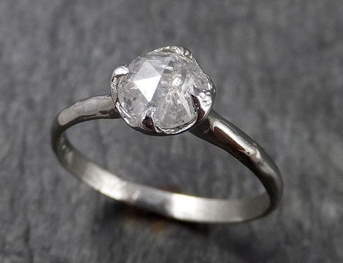 Fancy cut White Diamond Solitaire Engagement 14k White Gold Wedding Ring Diamond Ring byAngeline 1468