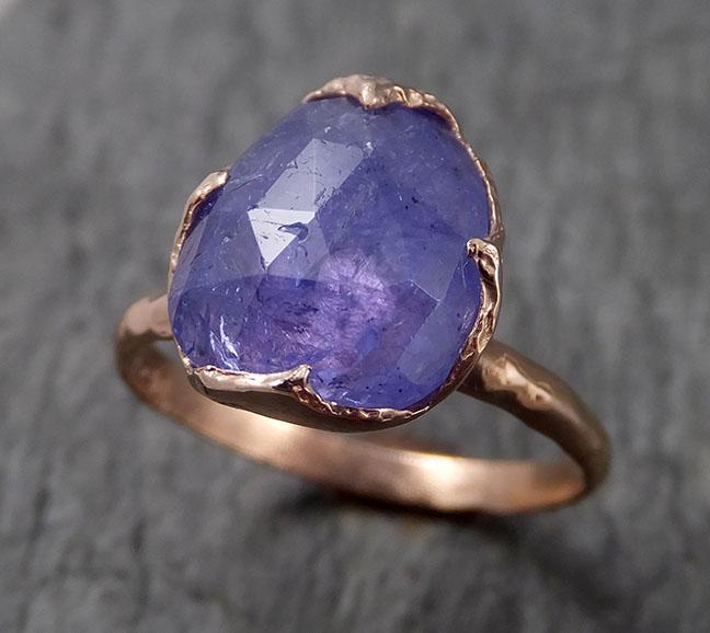 Fancy cut Tanzanite 14k recycled rose Gold Ring Gemstone cocktail statement byAngeline 1494