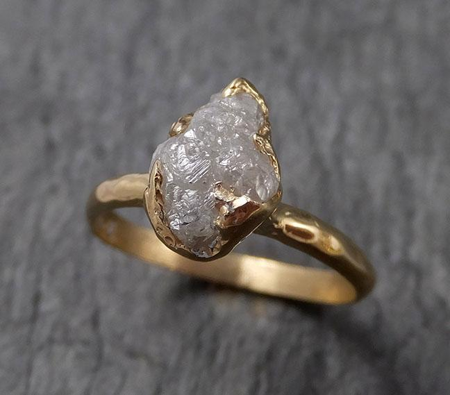 Raw Diamond Engagement Ring Rough Uncut Diamond Solitaire Recycled 14k yellow gold Conflict Free Diamond Wedding Promise 1507