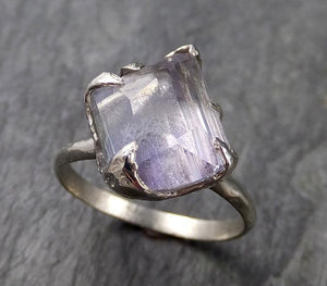 Partially faceted Ametrine 14k white gold Solitaire Ring Custom One Of a Kind Gemstone Ring Bespoke byAngeline 1030