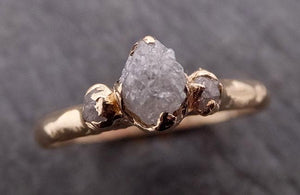 Raw Rough Diamond gold Engagement Multi stone Rough 14k Gold Wedding Ring diamond Wedding Ring Rough Diamond Ring byAngeline 1880