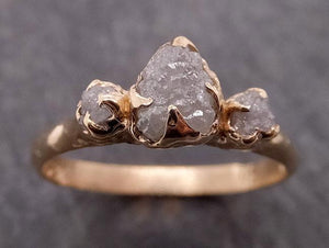 Raw Rough Diamond gold Engagement Multi stone Rough 14k Gold Wedding Ring diamond Wedding Ring Rough Diamond Ring byAngeline 1882