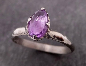Fancy cut pink Sapphire 14k White gold Solitaire Ring Gold Gemstone Engagement Ring 1929
