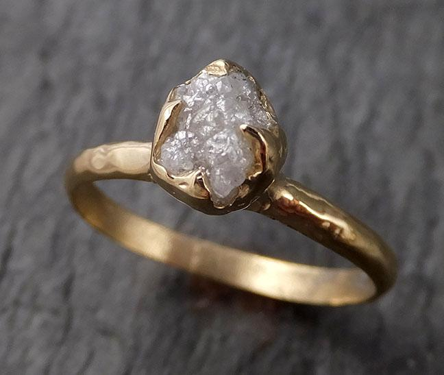 Raw Diamond Engagement Ring Rough Uncut Diamond Solitaire Recycled 14k yellow gold Conflict Free Diamond Wedding Promise 1535