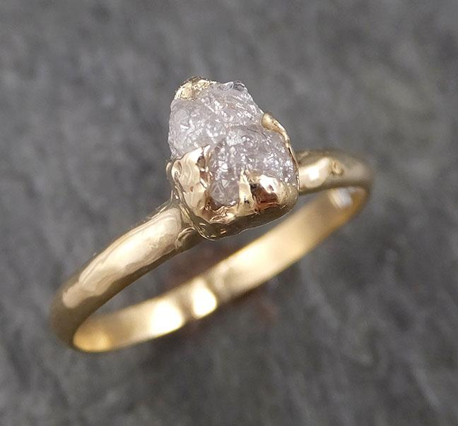Raw Diamond Engagement Ring Rough Uncut Diamond Solitaire Recycled 14k yellow gold Conflict Free Diamond Wedding Promise 1534