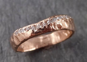 Raw Rough Diamond Wedding Band Multi stone conflict free diamonds Recycled Gold 14k 18k C1525