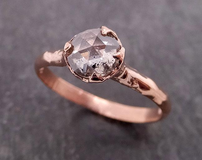 Fancy cut salt and pepper Diamond Solitaire Engagement 14k yellow Gold Wedding Ring byAngeline 0804 - Gemstone ring by Angeline