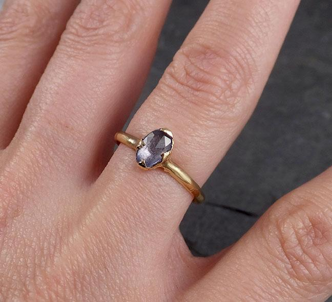 Raw Rough Uncut Diamond Engagement Ring Rough Diamond Solitaire 14k white gold Conflict Free Diamond Wedding Promise byAngeline 0332