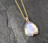 Fancy cut Moonstone 14k gold Pendant Gemstone Necklace gemstone Jewelry byAngeline 1558
