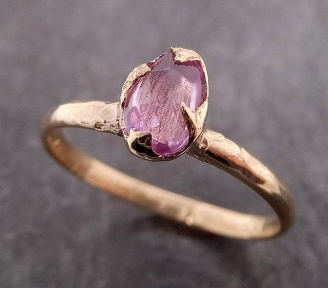 Fancy cut Pink Sapphire 14k gold Solitaire Ring Gold Gemstone Engagement Ring 1954
