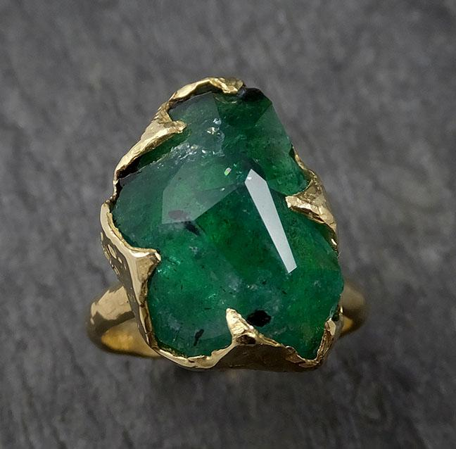 Raw Sea Green Tourmaline Diamond Multi stone Multi stone White Gold Ring Rough Uncut Gemstone tourmaline recycled 14k Engagement Wedding Ring 0393