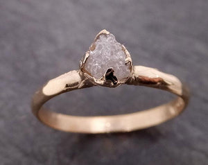 Raw Diamond Engagement Ring Rough Uncut Diamond Solitaire Recycled 14k yellow gold Conflict Free Diamond Wedding Promise 1965