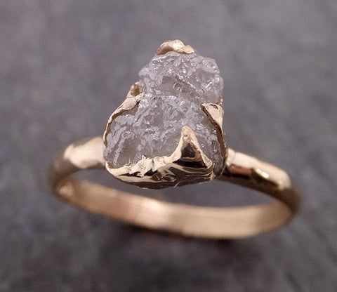 Raw Diamond Engagement Ring Rough Uncut Diamond Solitaire Recycled 14k yellow gold Conflict Free Diamond Wedding Promise 1966