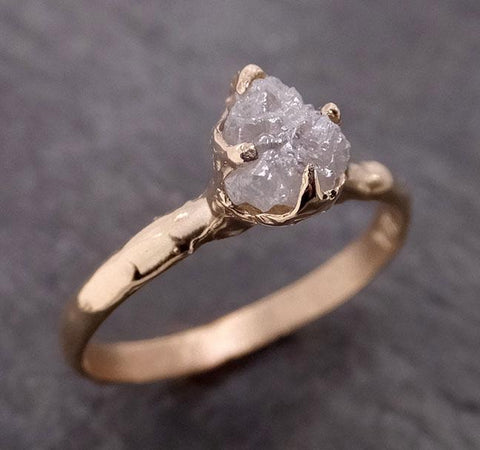 Raw Diamond Engagement Ring Rough Uncut Diamond Solitaire Recycled 14k yellow gold Conflict Free Diamond Wedding Promise 1969