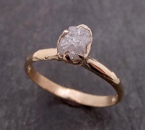 Raw Diamond Engagement Ring Rough Uncut Diamond Solitaire Recycled 14k yellow gold Conflict Free Diamond Wedding Promise 1971
