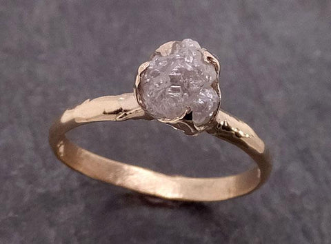 Raw Diamond Engagement Ring Rough Uncut Diamond Solitaire Recycled 14k yellow gold Conflict Free Diamond Wedding Promise 1972