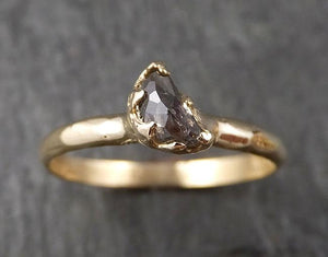 Fancy Cut Half Moon Diamond Solitaire Engagement 14k Gold Wedding Ring byAngeline 1584