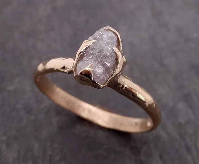 Raw Diamond Engagement Ring Rough Uncut Diamond Solitaire Recycled 14k yellow gold Conflict Free Diamond Wedding Promise 1974