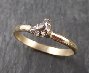 Fancy Cut Half Moon Diamond Solitaire Engagement 14k Gold Wedding Ring byAngeline 1586