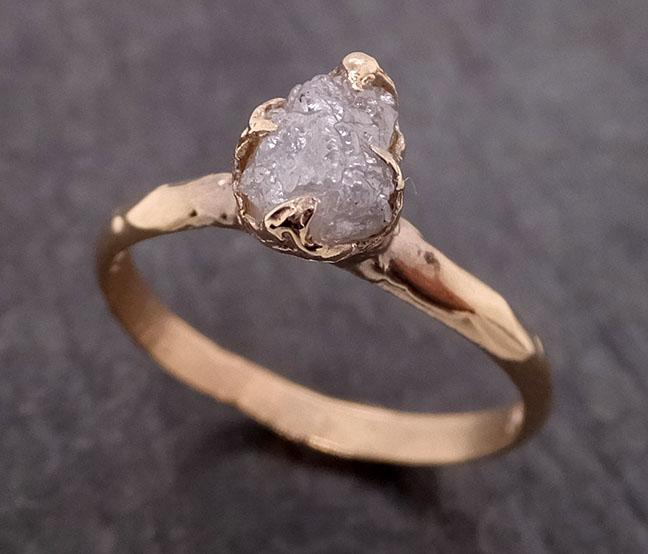 Raw Diamond Engagement Ring Rough Uncut Diamond Solitaire Recycled 14k yellow gold Conflict Free Diamond Wedding Promise 1978