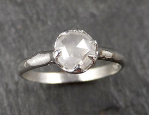 Fancy cut White Diamond Solitaire Engagement 14k White Gold Wedding Ring Diamond Ring byAngeline 1581