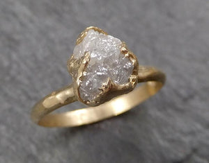 Raw Diamond Engagement Ring Rough Uncut Diamond Solitaire Recycled 14k yellow gold Conflict Free Diamond Wedding Promise 1604